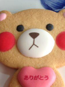 くまの顔をしたクッキーです。