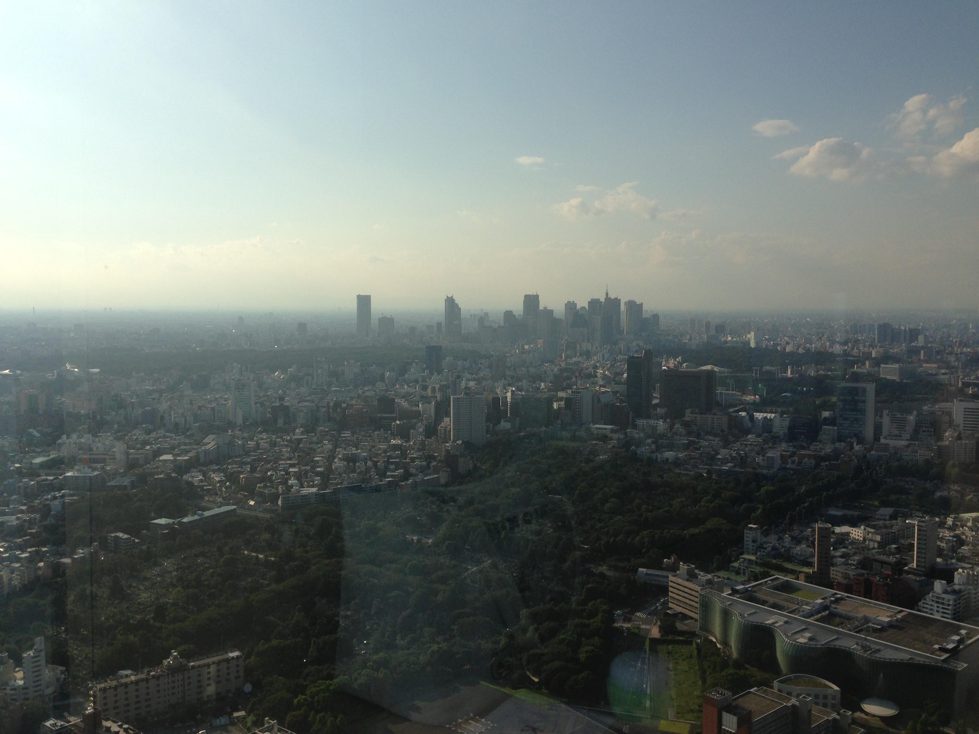 六本木ヒルズから見る新宿方面
