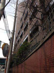青山学院の塀