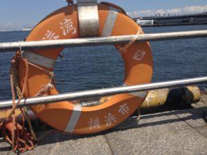 横浜港のうきわ