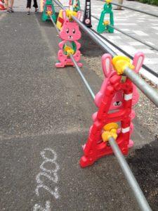日本のかわいい道路工事標識