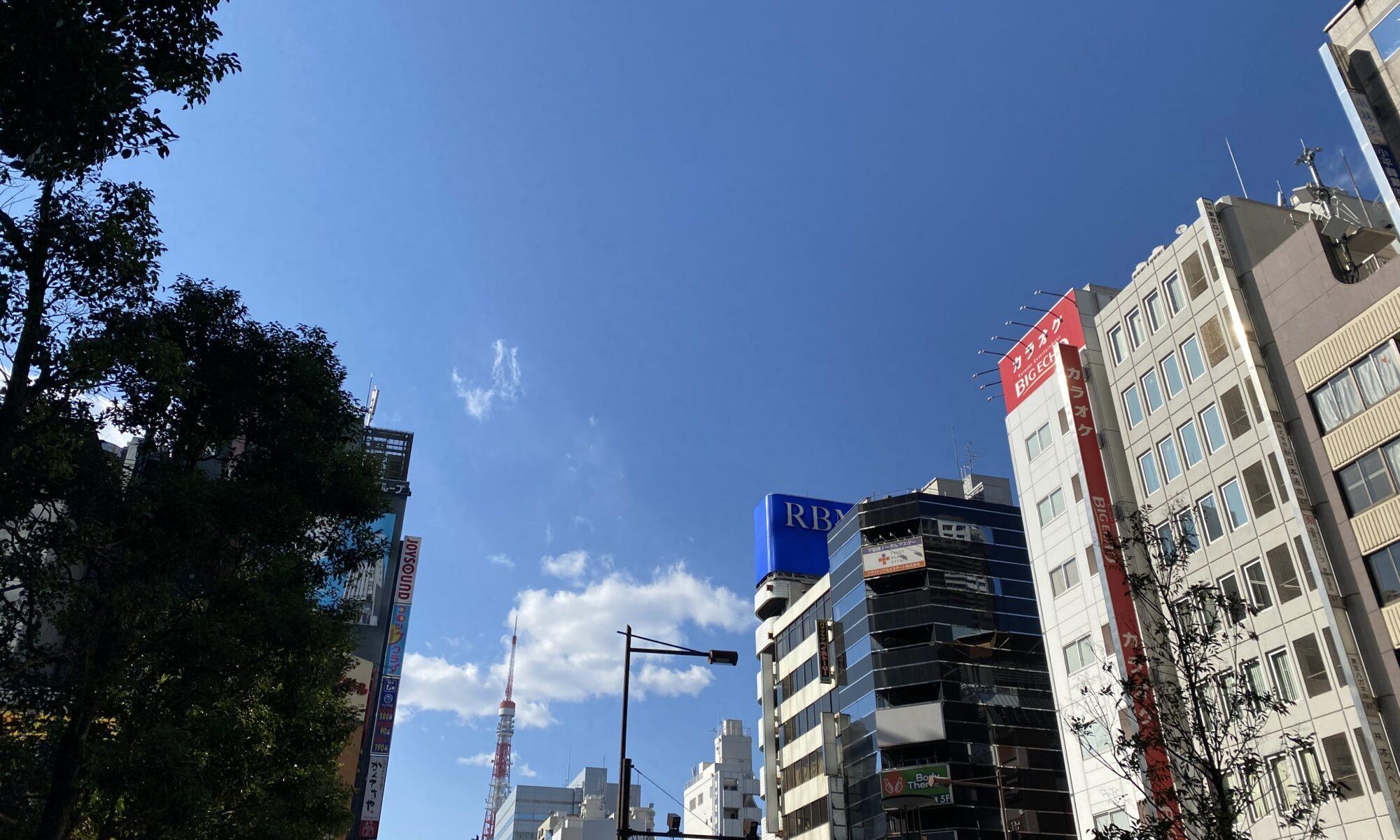 東京・浜松町の街並み。