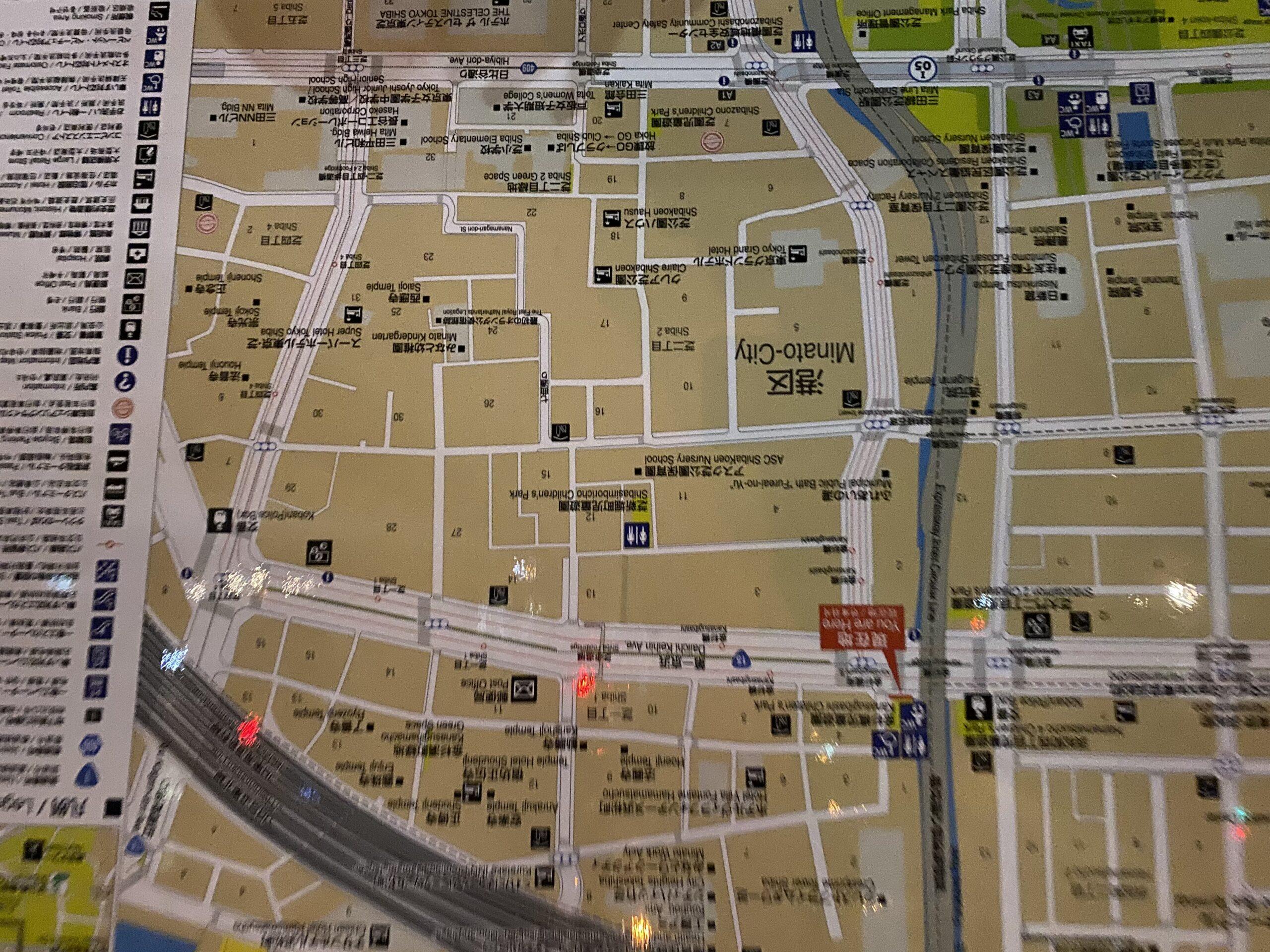 浜松町の地図
